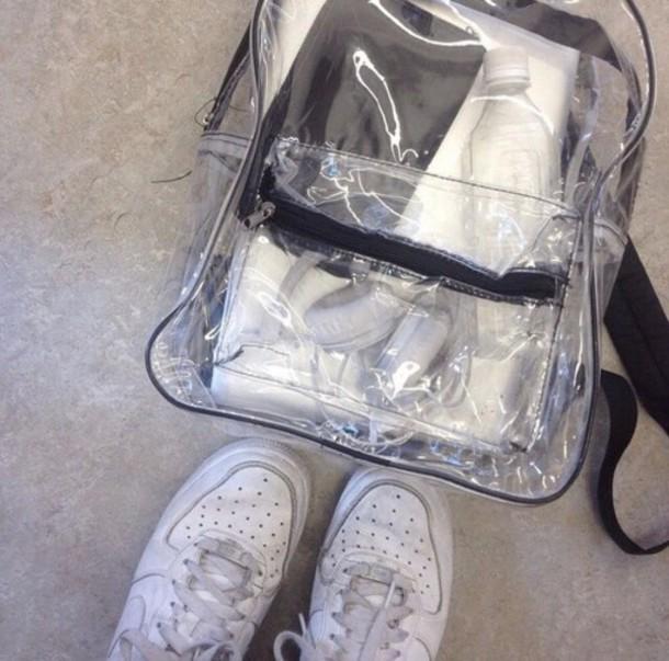 bag transparent  bag backpack school bag transparent  bag clear transparent aesthetic