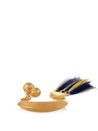 cuff tassel blue jewels