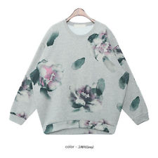Vintage Shading Splash INK Flowers Crewneck Fleece Sweatshirt Hoody TOP 2 Color | eBay