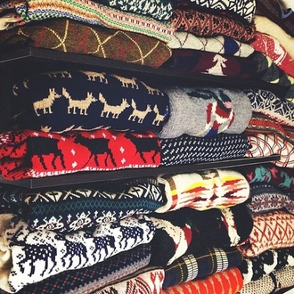 sweater amazing hip hipster deer wolf wolves pattern stripes red blue white yellow green black america plaid aztec winter sweater winter cold norway print norway pullover pullover sweater