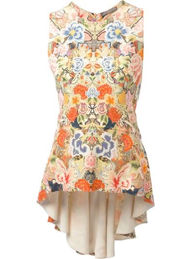 Alexander mcqueen floral patchwork top