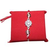 jewels,rakhi,sendrakhionline,designer rakhi,stone rakhi,silver rakhi set