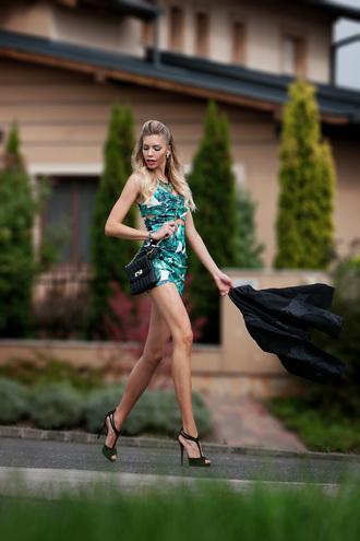 bag black bag streetstyle stylemoi leather bag sexy wear mini dress jacket