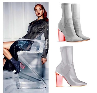 shoes boots patent shoes heels ankle boots grey transparent rihanna dior