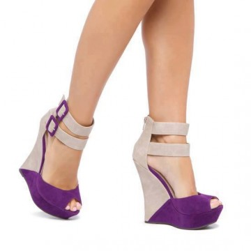 I Love Cute Fashion Brinley Co Open Toe Ankle Strap Wedges