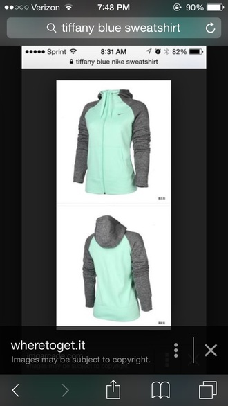 coat nike sweater tiffany blue thermal jacket