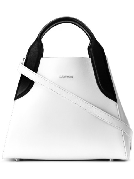 Lanvin - mini Cabas tote bag - women - Leather - One Size, White, Leather