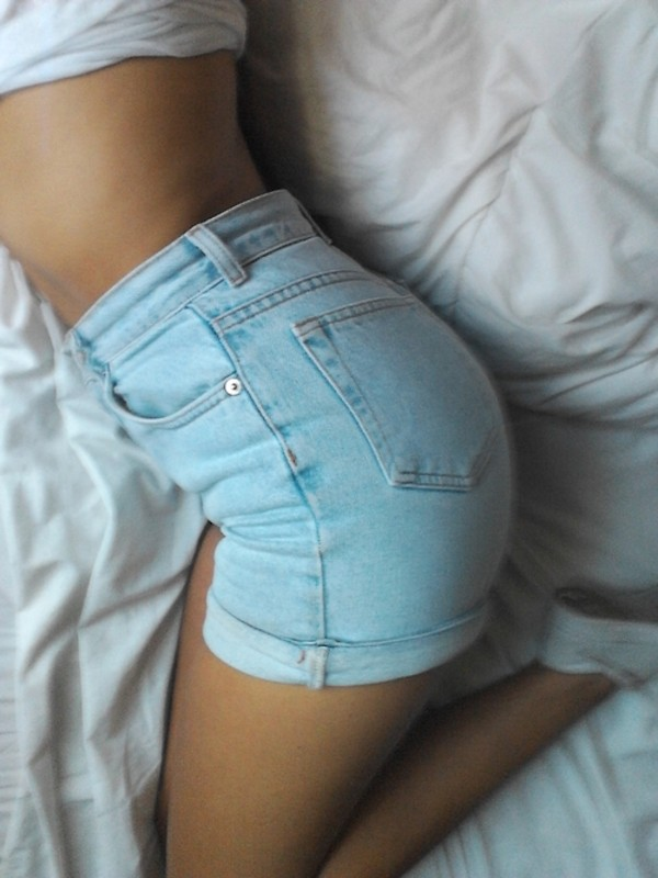 jeans shorts denim shorts sweet cute blue vintage tumbr