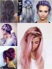 hair accessory,lavender hair,pastel hair,pink hair