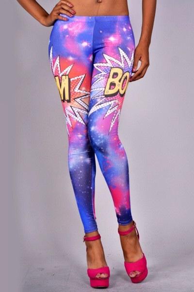 Boom Galaxy Printed Leggings Aprilclubwear