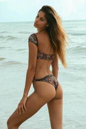 swimwear,print,open back monokini style,karma bikinis,one piece