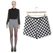 shorts,short,check printed,grid pattern short,black shorts,kcloth,grid