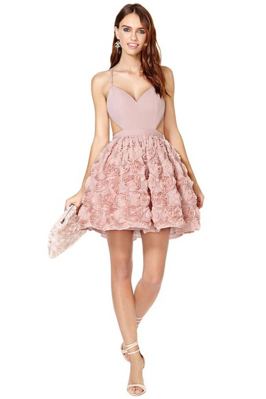 bag pink dress clutch shoes jewels nasty gal blushing blooms dress mini dress shoe cult geneva sandal sandals blushing out clutch castilla earrings earrings inner mate disposable gel petals underwear