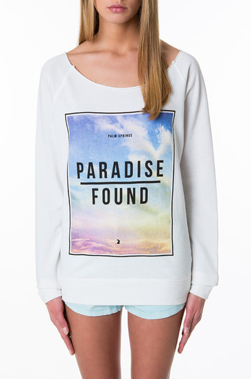 Weisses Sweatshirt 'Paradise Found'- Official TallyWeijl Store