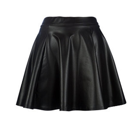 Kylie leather skater mini skirt