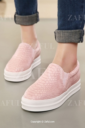 shoes sneakers platform sneakers zaful snake print snake pink shoes hipster hippie style edgy pink sneakers platform shoes