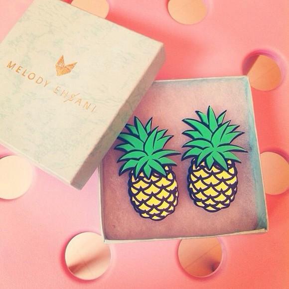 jewels pineapple print pineapple earrings