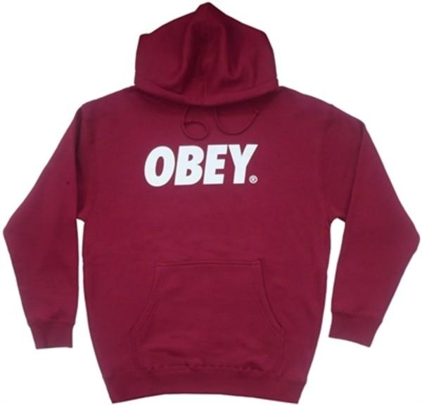 sweater obey obey hoodie burgundy burgundy hoodie