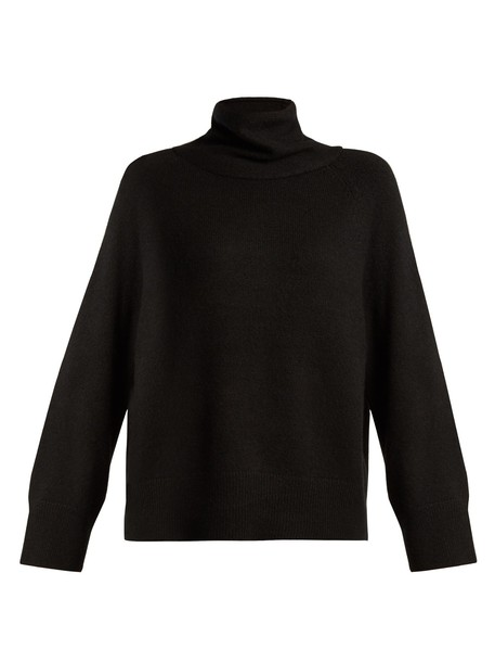 The Row sweater silk black