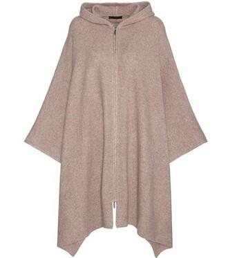 poncho silk beige top