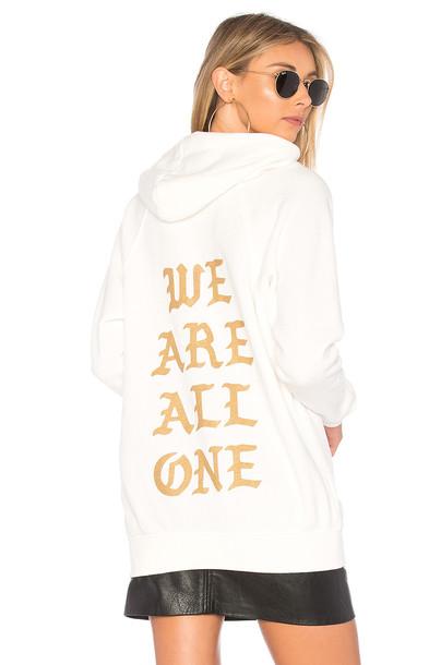 Spiritual Gangster hoodie white sweater