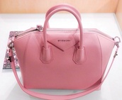 bag,pretty,cute,elegant,designer,leather,leather bag,baby pink,givenchy,pink,pink purse,money,handbag,clutch,hot