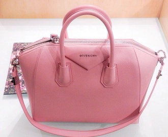 bag pretty cute elegant designer leather leather bag baby pink givenchy pink pink purse money handbag clutch hot