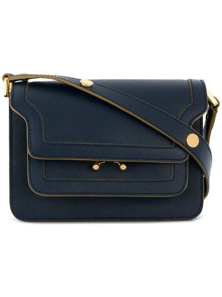 MARNI mini women bag shoulder bag leather blue