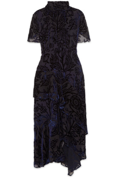 Peter Pilotto dress midi dress chiffon midi navy