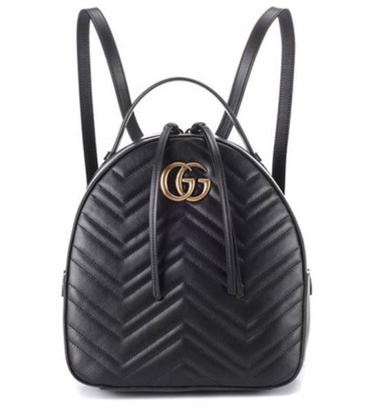gucci backpack leather backpack leather black bag