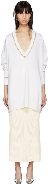 pullover white off-white sweater
