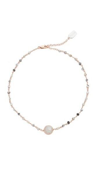 rose gold rose opal necklace gold jewels