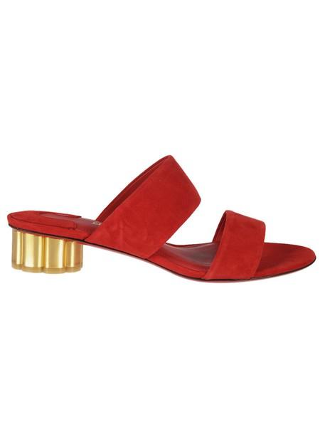 Salvatore Ferragamo sandals red shoes