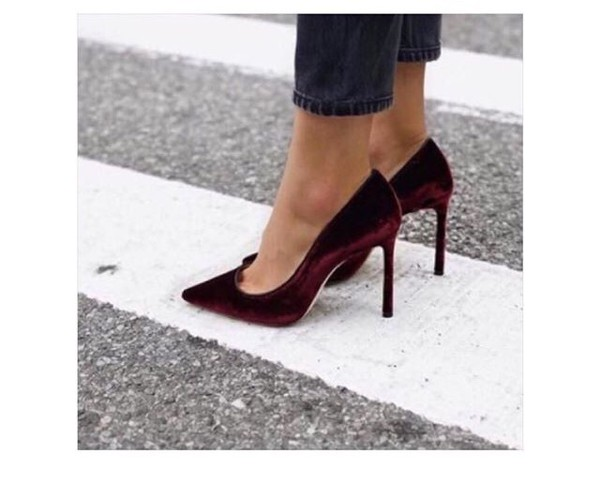 3db964e5e02a shoes velvet new york dark red gorgeus pretty girl bright new york city  soft.