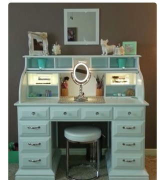 home accessory vanity makeup table mint girly