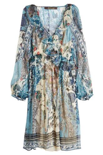 dress chiffon dress chiffon silk blue