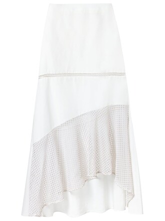 skirt midi skirt women midi lace white