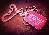 jewels,pink by victorias secret,necklace
