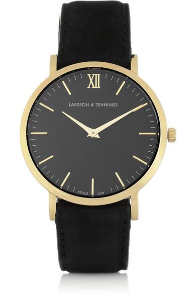 Larsson & Jennings | Läder gold-plated watch | NET-A-PORTER.COM