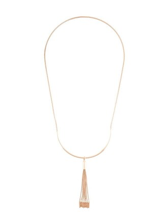 long tassel necklace metallic jewels