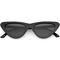Retro 1990's shallow flat lens cat eye sunglasses c520
