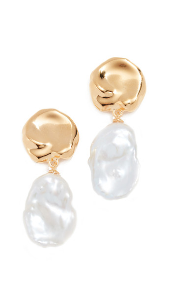 Lizzie Fortunato Coin Reflection Earrings in gold / yellow