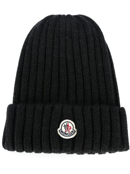 7ffebf0fc4e moncler Moncler ribbed beanie hat