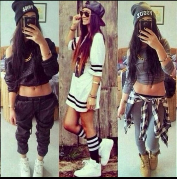 sweater grey sunglasses boots black white sneakers hat style necklace beanie cropped sweater crop tops tights socks gold bracelets swimwear long sleeves long sleeve crop top long shirt