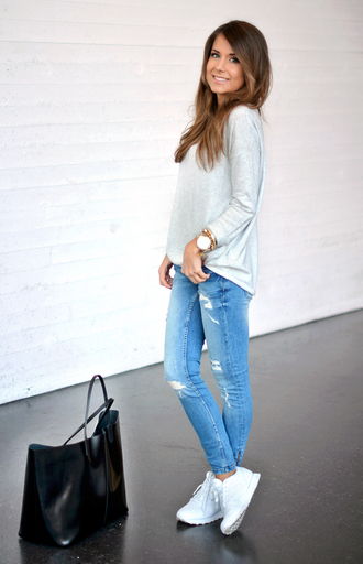 sweater bag jeans shoes mariannan