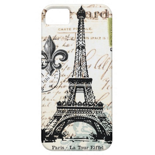Vintage french eiffel tower  iphone 5 case