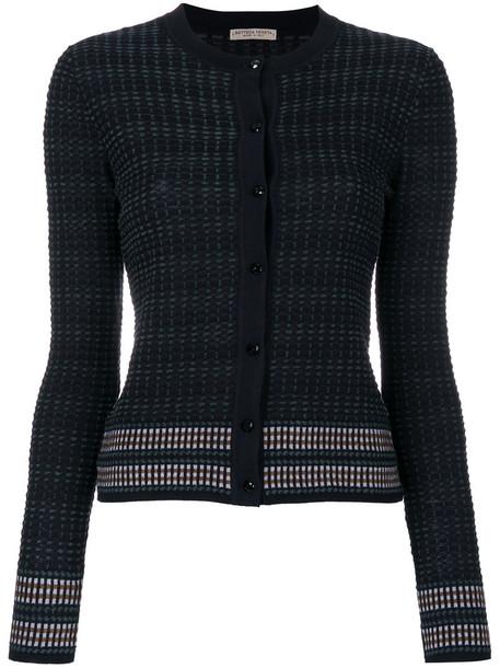Bottega Veneta cardigan ribbed cardigan cardigan women black wool sweater
