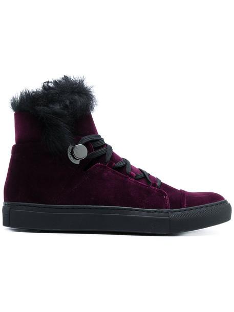 fur women sneakers velvet purple pink shoes