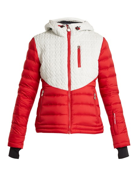 Perfect Moment jacket quilted chevron white red