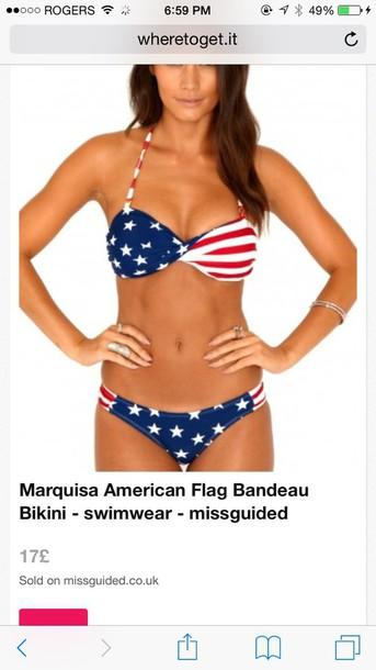 swimwear american flag bikini